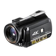 Professional 4K Full HD WIFI NightShot กล้องวิดีโอ 3.1 Touch Screen Built in ไมโครโฟนกลางแจ้งใช้เดินทาง