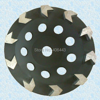 7 Arrow Turbo Diamond Cup Grinding Wheel For Concrete 180mm
