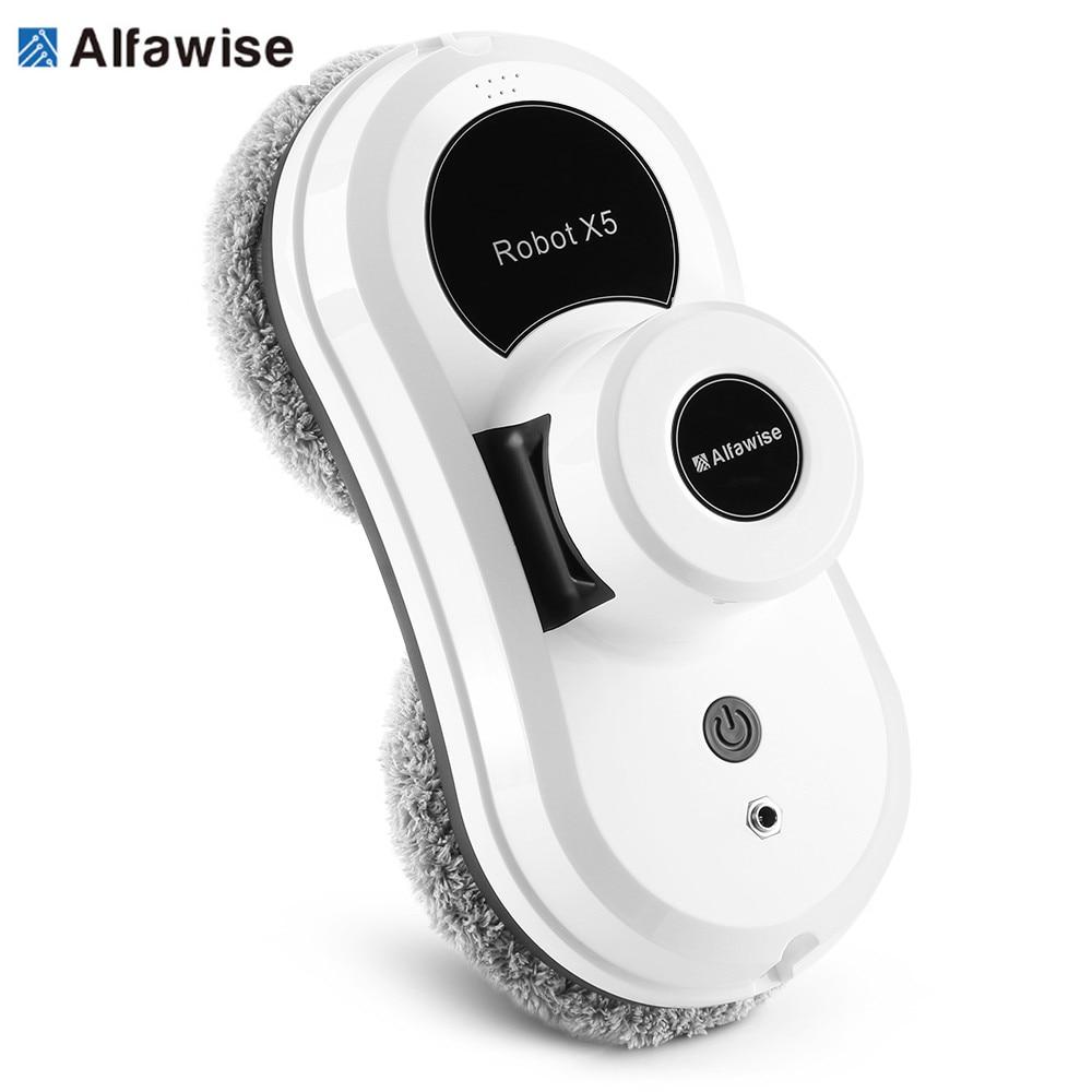 Alfawise S60 Staubsauger Roboter Fernbedienung Hohe Saugleistung Anti-Fallen Beste Roboter-staubsauger Fensterglas Reinigungsroboter