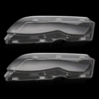 Car Headlight Cover Shell Automobiles Headlight Lens Shell Cover Lamp Assembly Left Right For BMW E46