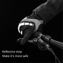 ROCKBROS Winter Cycling Gloves Thermal Windproof Touch Screen Bicycle Keep Warm Men Women Sport
