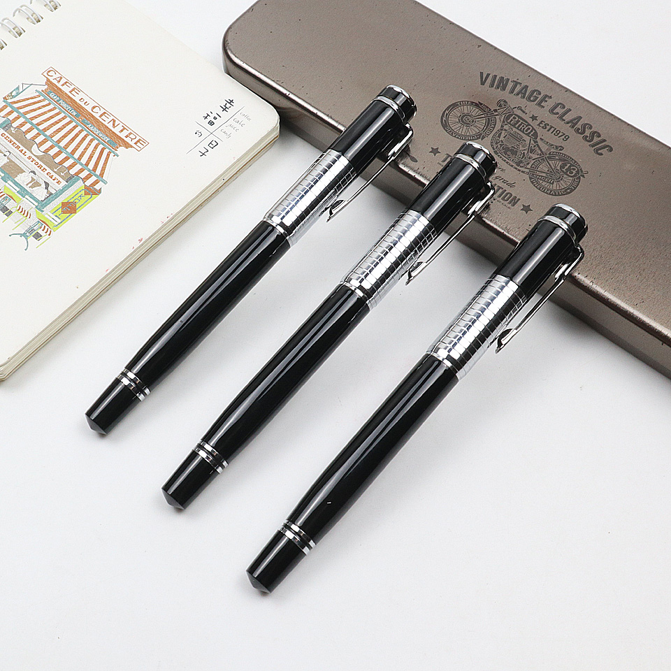 High Quality Brand Metal Ballpoint Pen Luxury Roller Pen 0.7mm Blue/Black ink Refill For Business Writing Office School Supplies ublox 7 series n32 gps module for mini naze32 flight control board for qav250 racing drones
