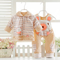 2016 Winter Warm Coat Thin Cotton Baby Clothing Sets Personality Two Pieces Cotton Trouser Suits