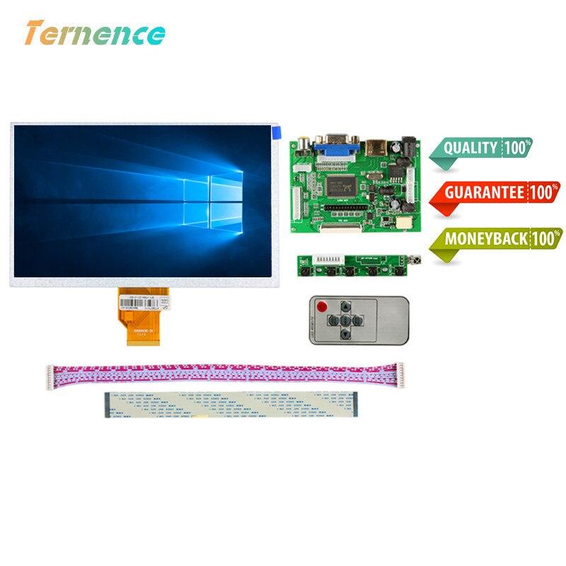 Skylarpu batterie 7''inch LCD Raspberry Pi 3 LCD écran de visualisation Matrice TFT Moniteur AT070TN90 + HDMI VGA AV Entrée tableau de bord Contrôleur