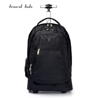 travel tale 16 inch fashion men/woman business oxford Rolling Luggage zipper backpack waterproof trolley bag travel bags