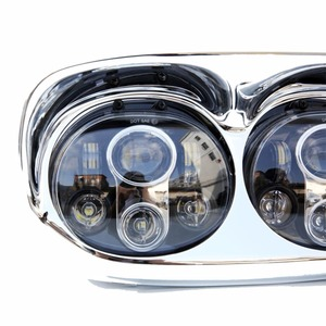 Image 4 - for Harley accessory   LED Dual Road Glide Motorcycle Headlight 45W X 2,for  Harley Motorcycle parts 12v DOT Approved