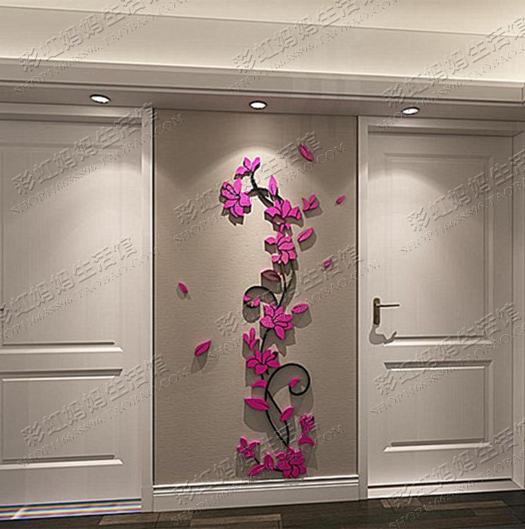 Aliexpress Com Buy Ka To Wall Decorative 3d Flower Wall