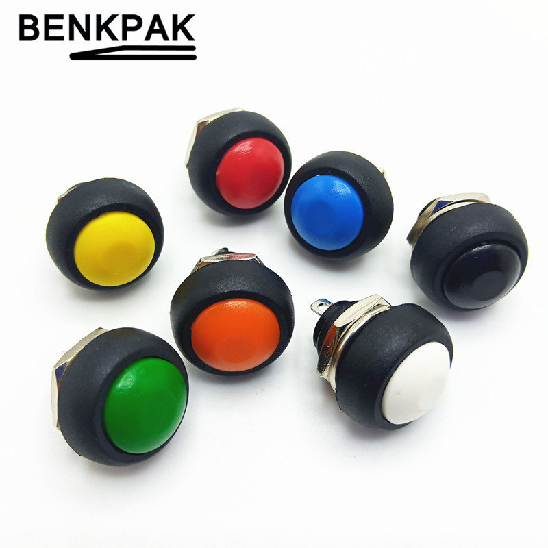 12mm Waterproof Momentary Push Button Switch OFF-(ON) Self Return