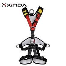 XINDA arneses profesionales para escalada en roca, cinturón de seguridad de cuerpo completo, Anti caída equipo de protección de altitud extraíble