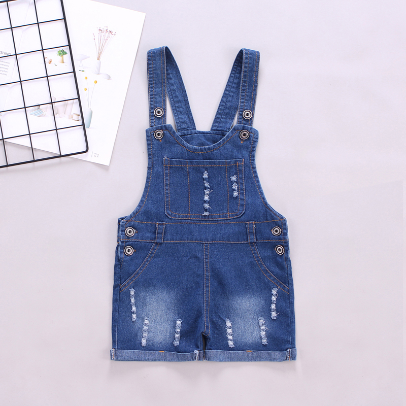 DIIMUU Kids Toddler Clothing Summer Boys Girls Overalls Casual Denim Pants Shorts Jumpsuits Children Clothes Bottoms For 3-5Year