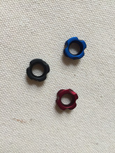 Free shipping 3Pcs/Lot Sight Peep 1/4″red/blue/black for compound bow hunting