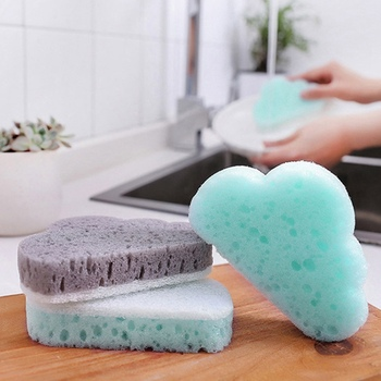1 Pcs Creative Cloud Shape Sponge Brush Tableware Glass Washing Cleaning Kitchen Cleaner Tool  Household Items 2