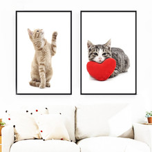 Gohipang Cartoon Cute Cat Wall Art Canvas Painting Posters And Prints Nordic Poster Animals Pictures For Living Room