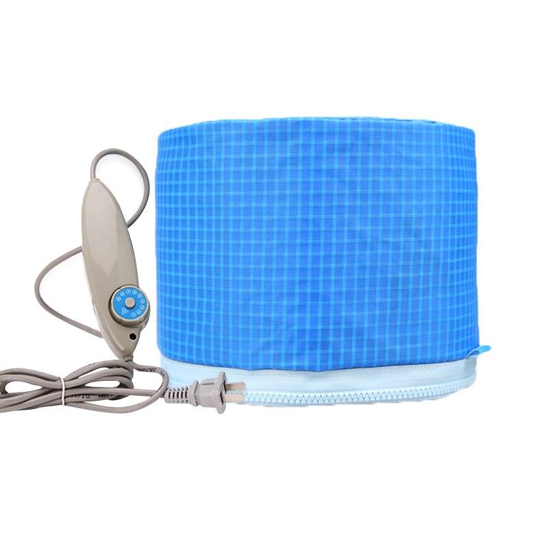 Sky Blue Hair Mask Baking Oil Cap Electric Heating Cap Heat Power Generator Hair Care SPA