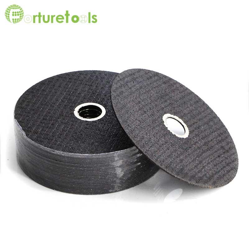 4 colių ypač plonas pjovimo diskas, dvigubas tinklas, nupjautas abrazyvinis ratas nešiojamajam kampiniam šlifuokliui iš metalinių plieninių elektrinių įrankių 100X16 TF012