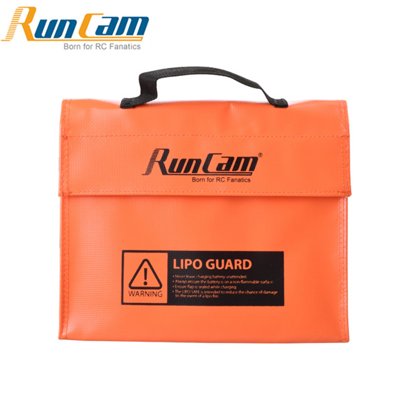240*180*65mm RunCam Lipo Battery Handbag Guard Bag Suitcase Orange For RC Quadcopter Battery Camera Drone DIY Part
