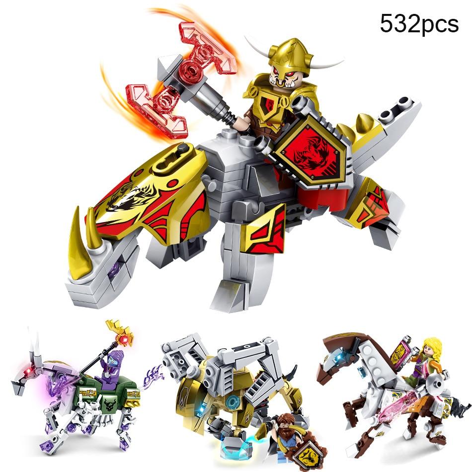 все цены на 4 Sets Ghost Tribes Transformation Robot Figures Building Blocks Compatible Legoe City Ninjago Brick DIY Toys For Children Gifts онлайн