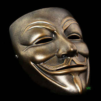 V for Vendetta Resin Mask Halloween Masquerade Anonymous Guy Fawkes Fancy V Masks Dress Adult Costume Cosplay Party Props