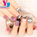 Fake Nails Short Manicure 3D Finished Product Manicure Art False Nail Wholesale Fashion Artificial ABS Full Pre-Glue Nail Tips