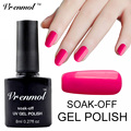 Vrenmol Soak Off Bright Glitter Color Nail Gel Polish Long Lasting UV Lamp LED Art Manicure Set Nail Varnishes Gel Lak