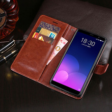 Business PU Leather Case For Meizu M6T Flip Cover Phone Anti-knock Shell