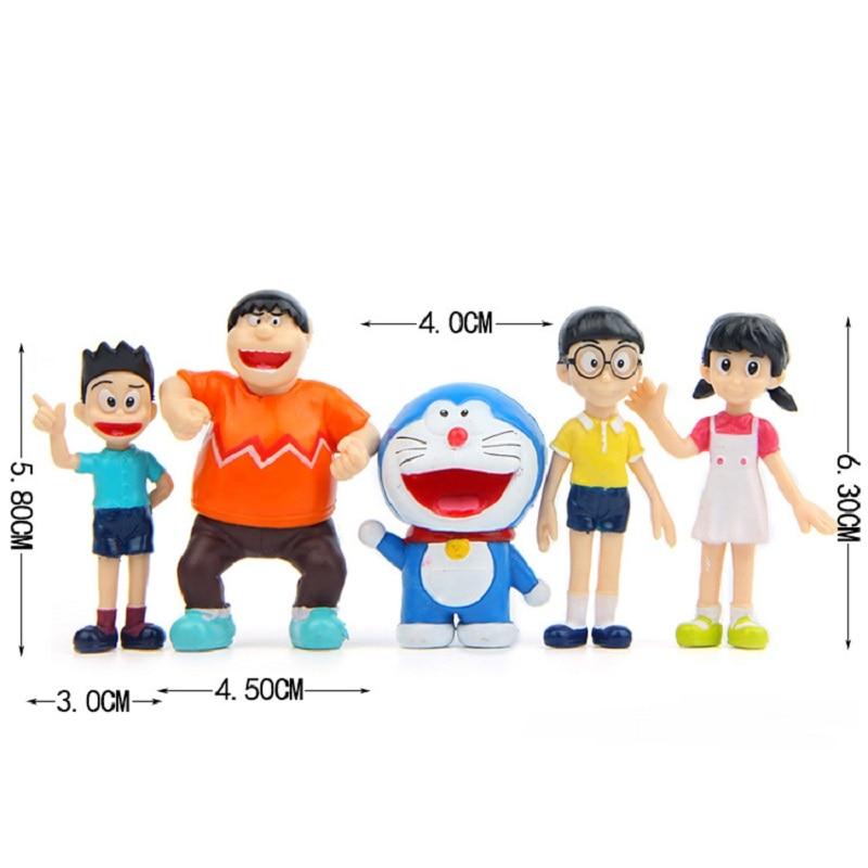 lot OF 13 fujiko pro.toys Doraemon mini figure 5cm #kj8