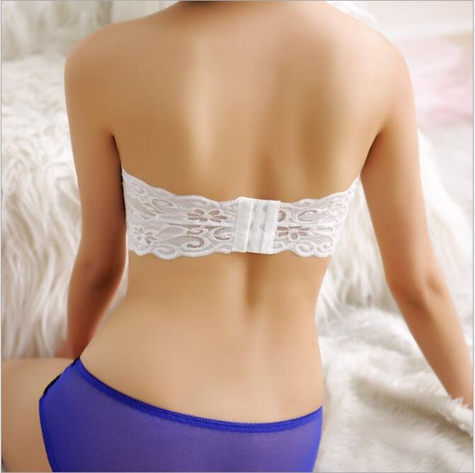 Hot New 2016 Sexy Wome Strapless Lace Bralette Crop Top Lady Lingerie Vest Padded Bra Bandeau Boob Brassiere Tube Tops