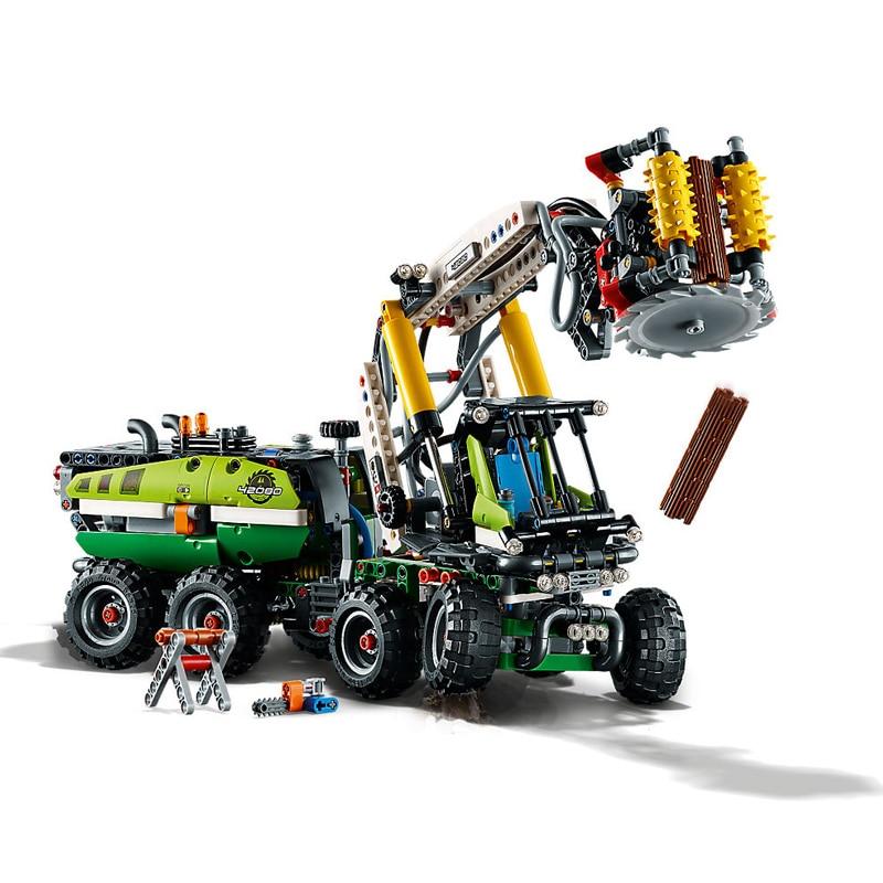 Nouvelle technique forêt moissonneuse Set drôle voiture jouets Compatible Legoing Technic 42080 blocs de construction briques jouets cadeaux de noël