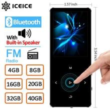 ICEICE MP3 Player with Bluetooth Touch Keys Built in Speaker 8GB 16GB 32GB 40GB HiFi Portable Walkman Radio FM Recording MP 3