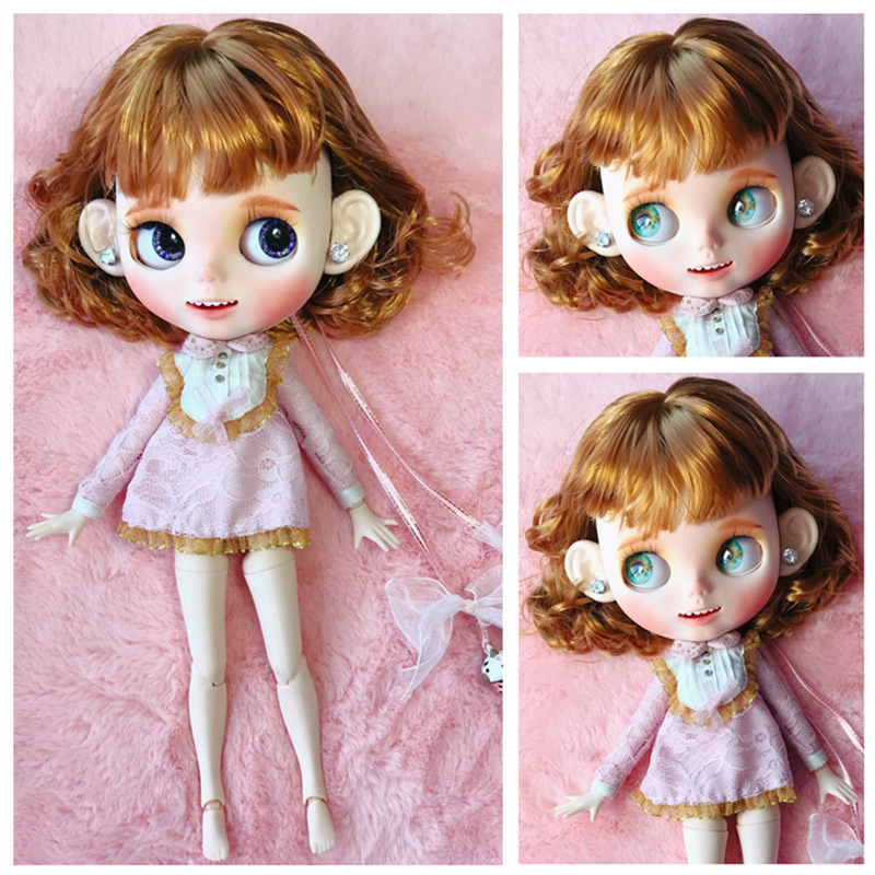 factory blyth doll whit skin normal body long short hair 30cm 1 6