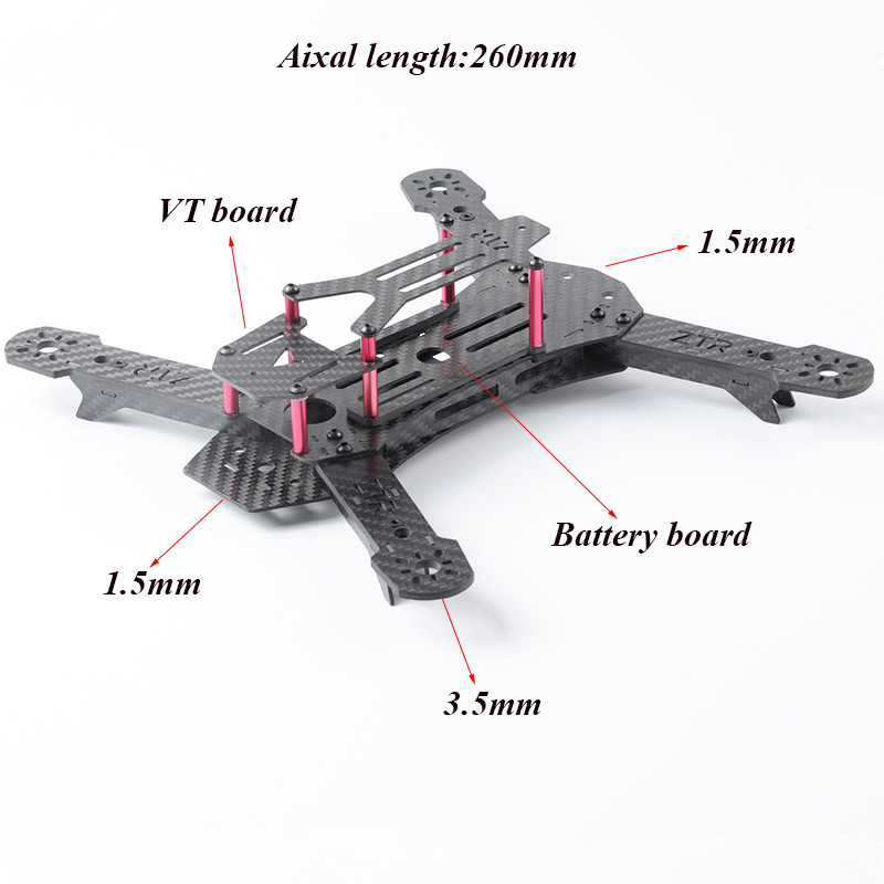 QAV260 QAV250 Frame New design 260mm Carbon Fiber FPV Racing Drone Quadcopter Multirotor Frame