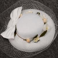 Fiore Velo di pizzo Copricapo Testa Veil 2017 Mini Cerimonia Nuziale Della Sposa Cappello Vintage Wedding Bridal Accessori Per Capelli