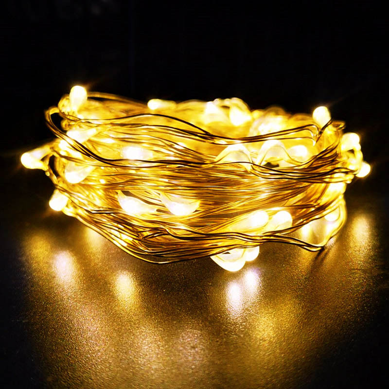 1/2/5/10M 10-100 LEDs Christmas Garland Sr Wire LED String Lamp Fairy Lights For Indoor New Year Xmas Wedding Decoration