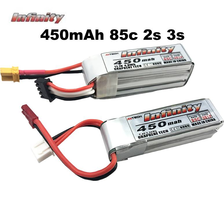 JMT 2S 450MAH  Battery with XT30 Plug For DIY FPV Racing Drone Quadcopter