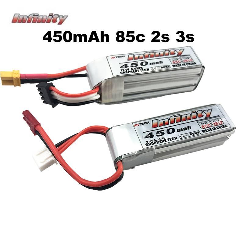 Infinity LiPo Battey 450mah 2S 3S 85C JST XT30 Plug For RC FPV Racing Drone