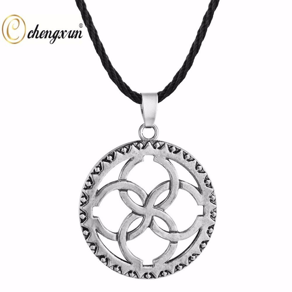 CHENGXUN Religious Jewelry Svadebnik Silver Slavic Pendant