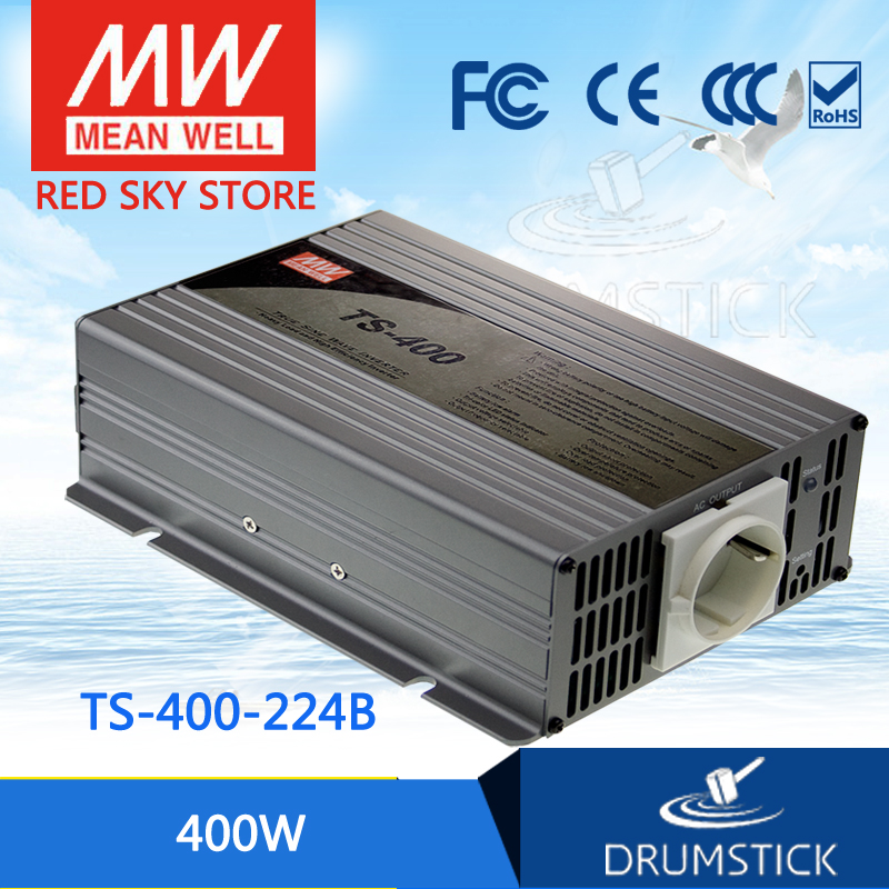 цена на Selling Hot MEAN WELL original TS-400-224B EUROPE Standard 230V meanwell TS-400 400W True Sine Wave DC-AC Power Inverter