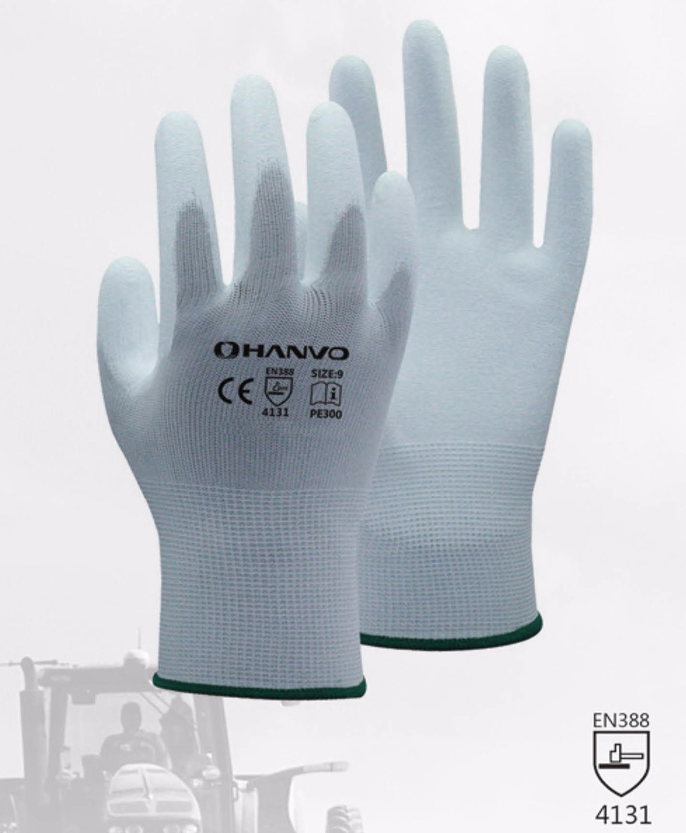 20 pairs PU ESD Safety Glove Nylon PU Gloves ESD Working Gloves PU Anti Static Work Glove