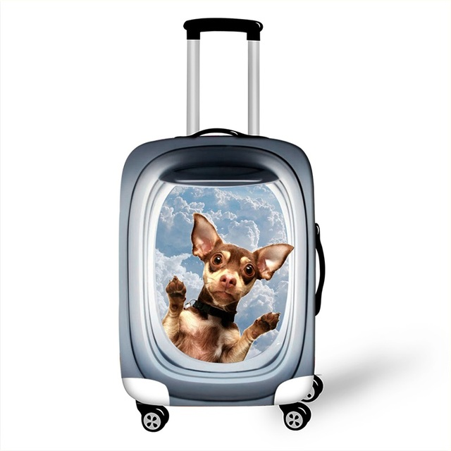 3D Cartoon Animal Luggage Protective Covers For Travel 18 to 28 Inch Cute Trolley Suitcase Cover Elastic Dust Protection Cover