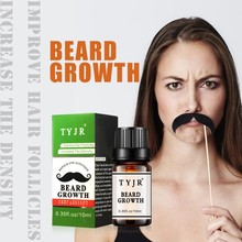 10ml 100% Natural Men Beard Oil for Styling Growth Moisturizing Smoothing Gentlemen Beard Care Conditioner L7