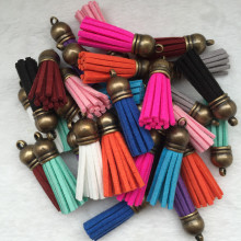 Wholesale 38mm mixed suit suede tassel, 10 unids for chain /