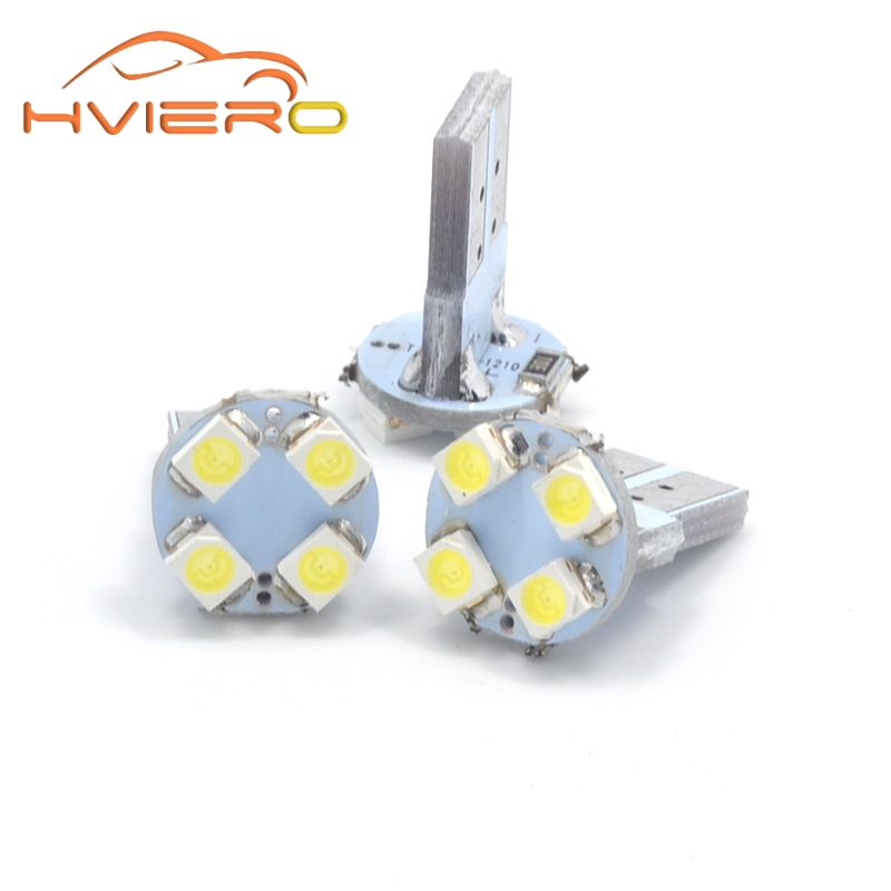 10Pcs White 501 W5W T10 168 194 bulbs 1210 3528 4 Smd Led Canbus Signal Corner Light Bulb Door Lamp Reading Interior Lighting carprie super drop ship new 2 x canbus error free white t10 5 smd 5050 w5w 194 16 interior led bulbs mar713