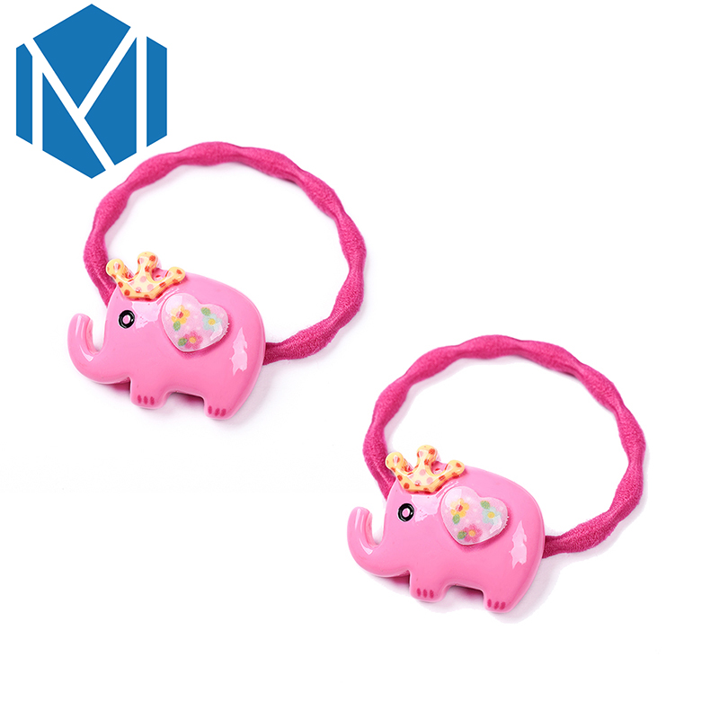 M MISM 1Set=2Pcs Girls Lovely Elastic Hair Bands Kids Scrunchy High Quality Gum for Hair Accessories Children Cute Rubber Bands m mism new arrival korean style girls hair elastics big bow dot flora ponytail rubber hair rope hair accessories scrunchy women