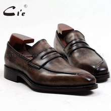 CIE квадратный носок заказ Для мужчин Кожаная обувь ручной работы из натуральной телячьей кожи Для мужчин Slip-на фатине коричневые Лоферы Для мужчин обувь loafer91