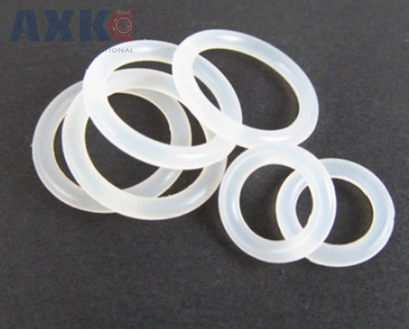 все цены на AXK O-ring Seals White Silicon 3mm Thickness 100/105/110/115/120/125/130/135/140/145/150mm OD Rubber Oring Gasket Washer онлайн