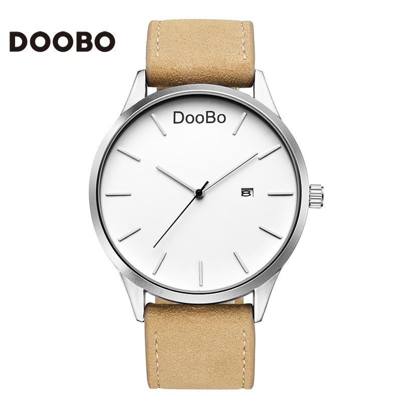 DOOBO Mode Casual Herrklockor Topp Märke Luxury Läder Business - Herrklockor - Foto 2