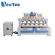 Jinan AccTek Professional carbon fiber beach racket cnc router hole drilling machine multi heads Mach3 controller(China)