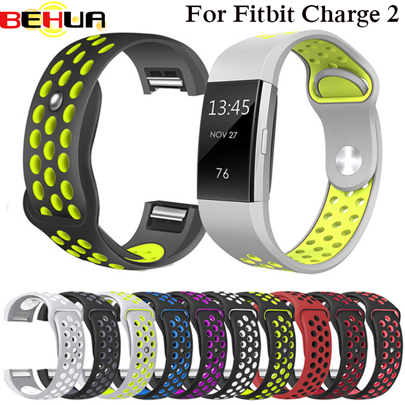 Colorful Band For Fitbit Charge 2 Sport Silicone Band Wrist Strap For Fitbit Charge 2 Bracelet Smart Wristband Smart Accessories