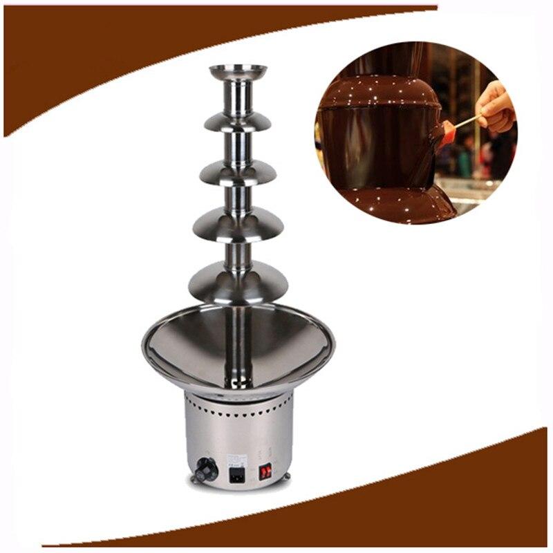 Коммерческая Шоколадный фонтан чайник шоколад тает фондю ZF