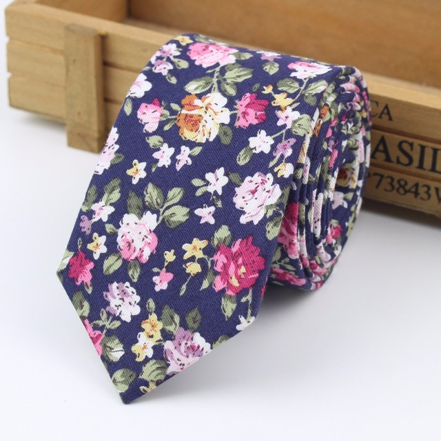2018 New Style Fashion Necktie Casual Check Artificial Cotton Flower Roes Bow Tie Paisley Skinny Ties Men Small Designer Cravat
